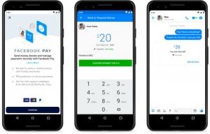 Un esempio di transazione su Messenger
